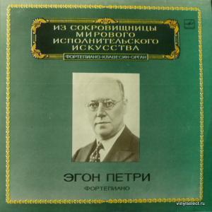 Egon Petri - L. Beethoven-Sonata No. 27, F. Schubert-Liebesbotschaft, J.S. Bach - Prelude And Fugue
