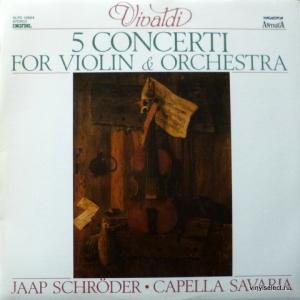 Antonio Vivaldi - 5 Concerti For Violin & Orchestra