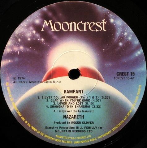 Купить пластинку Rampant Nazareth 9900 руб Оригинал фото