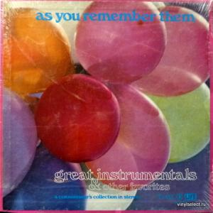 Billy May And His Orchestra - As You Remember Them: Great Instrumentals & Other Favorites: Vol. 5