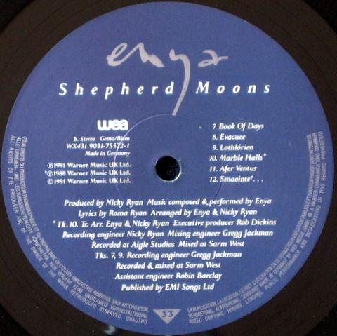 Купить пластинку Shepherd Moons Enya 4200 руб Оригинал